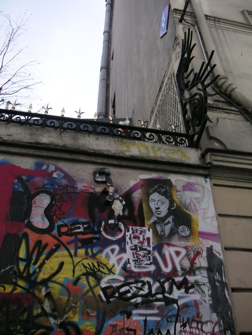 Serge Gainsbourg's Hôtel Particulier, after his death his family left this exterior wall full of graffity just as it is. Hommage to the great writer and singer and songwriter, provocateur par excellence.