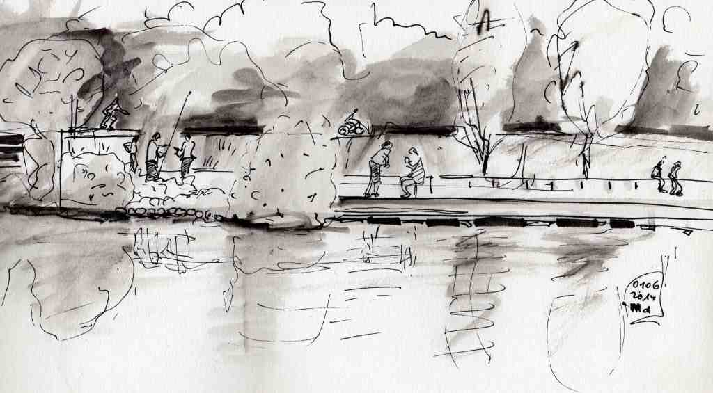 The people on the opposite River bank