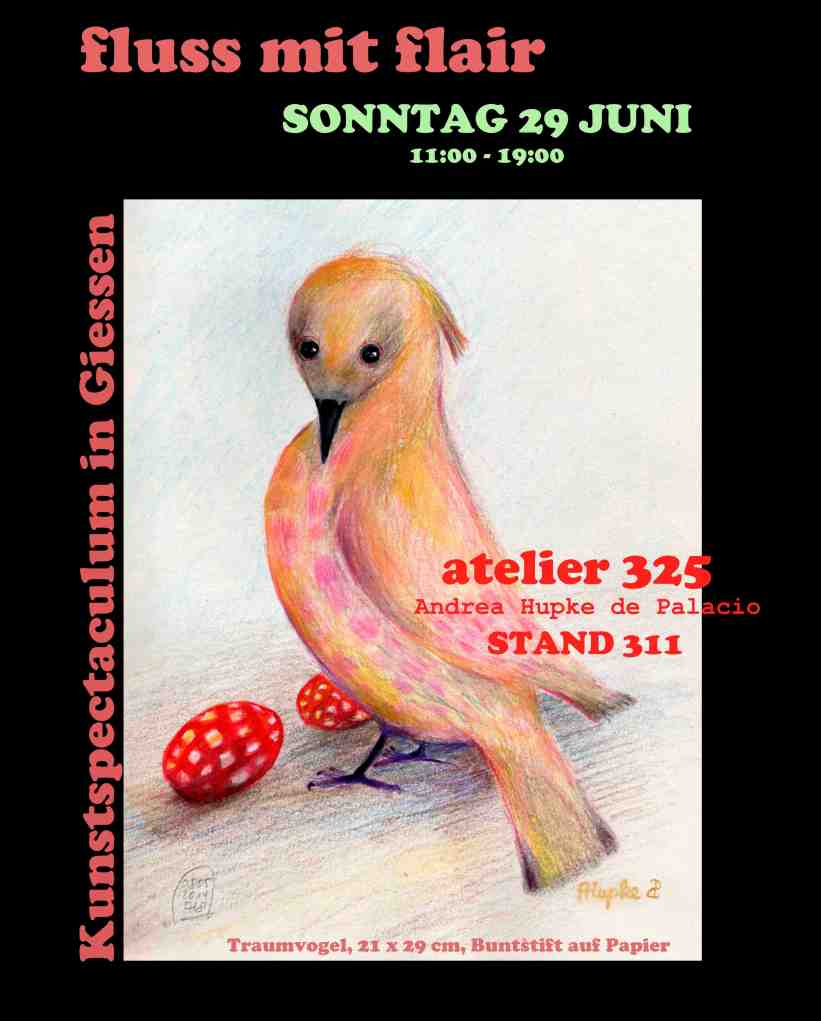 next Atelier 325 event: participation in the artmarket Fluss mit Flair in Giessen Germany